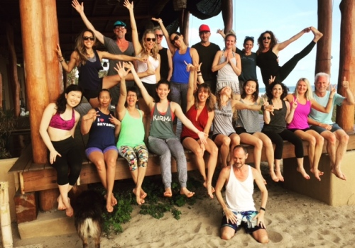 Joan and Yogis in Mexico